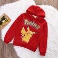 2-8Y Niños Pokemon Pikachu Con Capucha Tops Sudadera Con Capucha Sudaderas Unisex Chicos GirlsClothes Pullover Top Coat