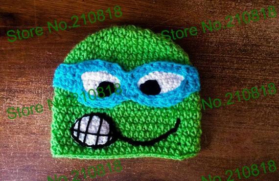 32dc857373d 20pcs lot Crochet Baby TMNT Hat Hand made Cute Animal Baby Hat