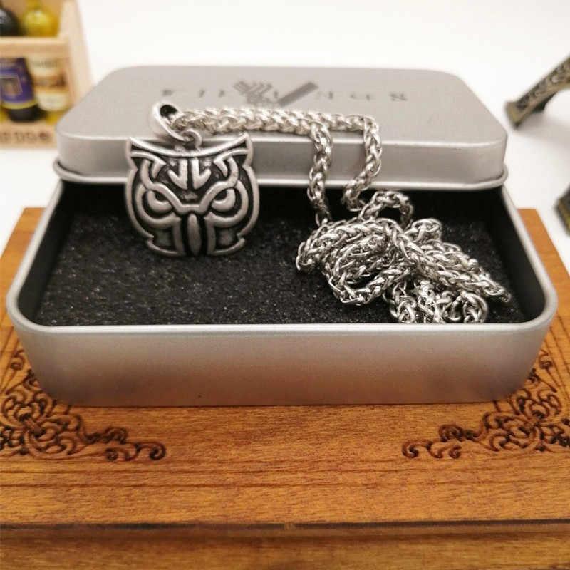 Celtics sowa węzeł wisiorek naszyjnik mężczyźni kobiety pogański Norse biżuteria Viking Drop Shipping