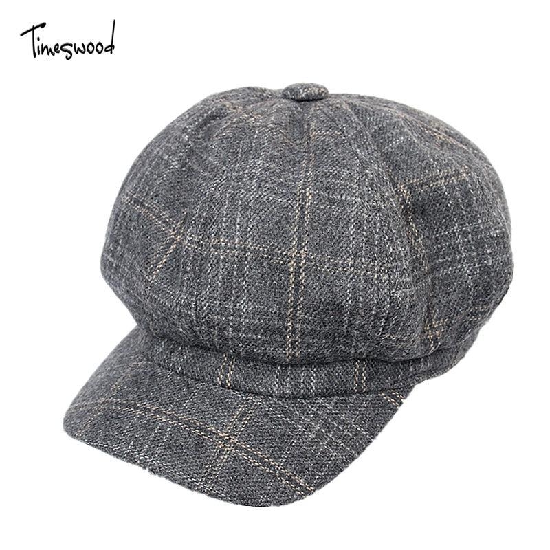 New England Style Unisex Newsboy Caps Cotton Berets Baker Bos