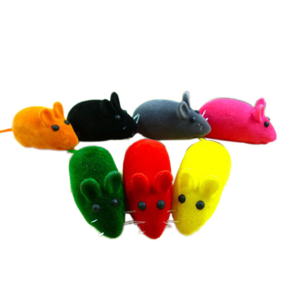 Cute False Little Mouse Squeak Noise Sound Funny Rat Playing Toy For Cat Kitten Pet Play Funny Multi Color New