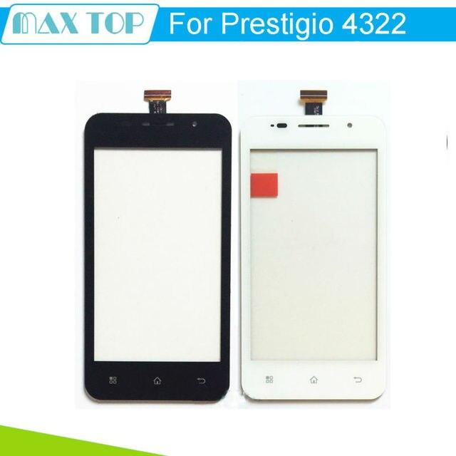 """4.3 """"para pap4322 prestigio multiphone pap 4322 duo smartphone touchscreen telefone sensor digitador da tela de toque do painel de vidro frontal"""