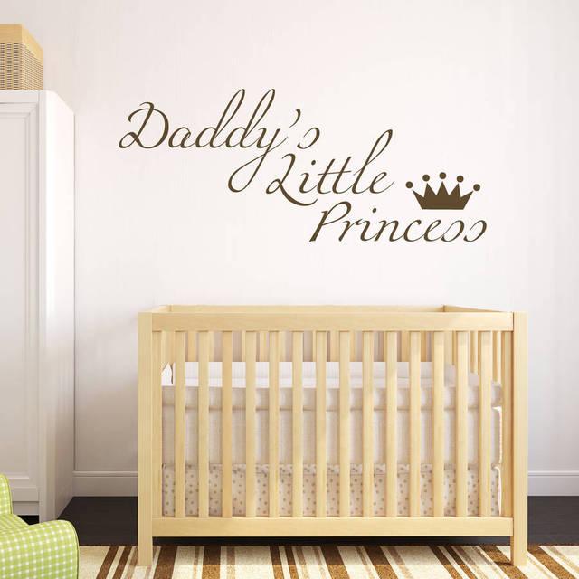 Daddyu0027s Little Princess Wall Sticker Quotes Sweet Baby Nursery Bedroom Decoration Removable Vinyl Wall Art Decals  sc 1 st  AliExpress.com & Daddyu0027s Little Princess Wall Sticker Quotes Sweet Baby Nursery ...
