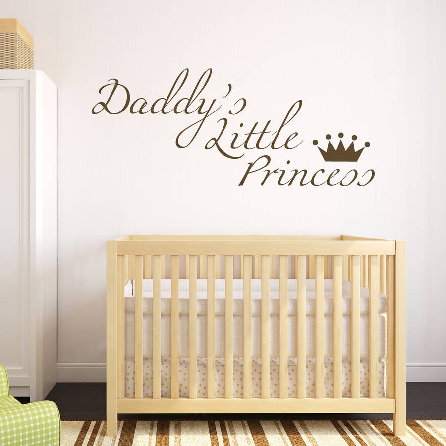 baby wall quotes promotion shop for promotional baby wall quotes daddy s little princess wall sticker quotes sweet baby nursery bedroom decoration removable vinyl wall art decals kids za745