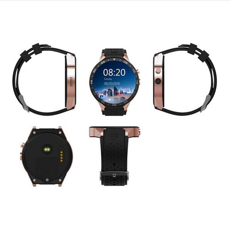 2017 HOT KW88 Smart Watch 1.39 Inch MTK6580 Quad Core 1.3GHZ Android 5.1 3G Smart Watch 400mAh 2.0 Mega Pixel Heart Rate Monito goldenspike i3 smart watch 1 5 inch mtk6580 quad core 1 3ghz android 5 1 3g smart watch 500mah 2 0 mega pixel heart rate monitor