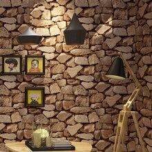 빈티지 벽 종이 방수 논문 홈 장식 3d 모방 락 스톤 비닐 벽지 papel de parede
