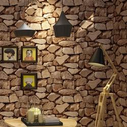 Vintage Wall Paper Waterproof Wall Papers Home Decor 3D Imitation Rock Stone Vinyl Wallpaper For Walls Papel De Parede 3D
