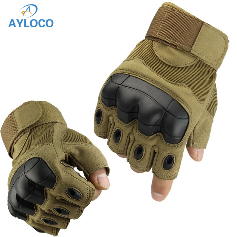 Tactical Gloves Military Army Combat Fingerless Airsoft Shooting Paintball Bicycle Fitness Antiskid Half Finger Gloves