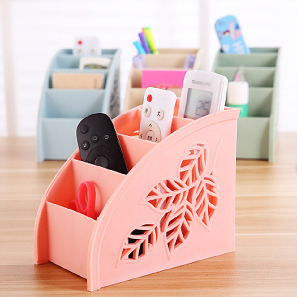 Creative Hollowed Multifunctional Practical Desktop Organizer TV Conditioner Remote Control Cosmetic Office Sundry Storage Box in Storage Boxes Bins from Home Garden