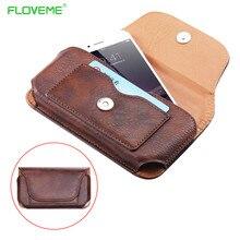 Мода PU телефон талии Чехлы для iPhone 7 6 6 S плюс крышка карман для Samsung Galaxy S7 S6 край S5 S4 Coque основа сумка принципиально