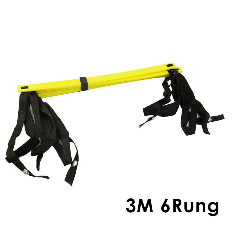 Rung Nylon Straps Training Ladders Agility Speed Ladder Stairs for Soccer Football Speed Ladder Fitness Equipment 6/7/8/12/14 20