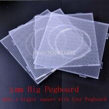 3 мм 1 лот = 4 шт. Размер 14,5*14,5 см квадратное наборное поле для пазлов узоры для 3 мм Хама artkal/термомозаика DIY Дети Ремесло