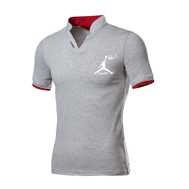 Men Clothes 2019 Top Tees Men   Polo   Shirt 5xl Jordan Basketball Printing Pattern Short Sleeve   Polo   Shirt Cotton   Polos