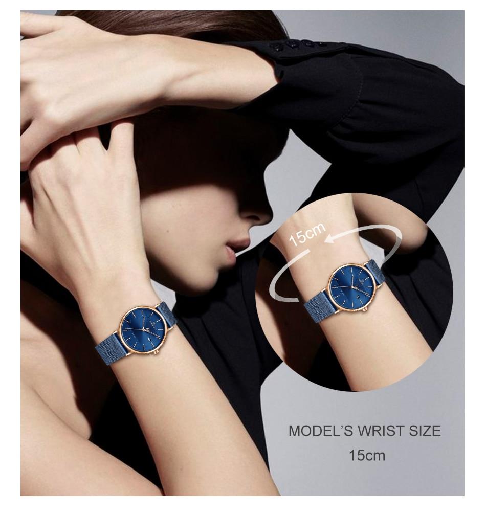 NAVIFORCE New Stylish Women Watches Top Brand Luxury Stainless Steel Strap Quartz Wristwatch For Woman Bracelet Watch 2019 Gift  (7)