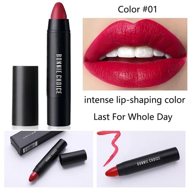 BONNIE CHOICE 10 Colors Matte Lipsticks Waterproof Matte Velvet Lip Sticks Cosmetic Easy to Wear Lipstick Matte Beauty Lipstick 2
