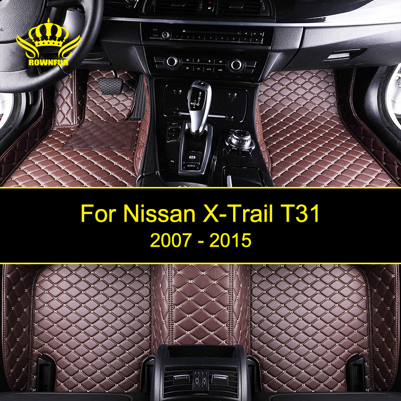 Artificial Leather Car Floor Mats For Nissan X-Trail T31 Custom According To Car Model Four Seasons Carpet Mats Protect Car Mats