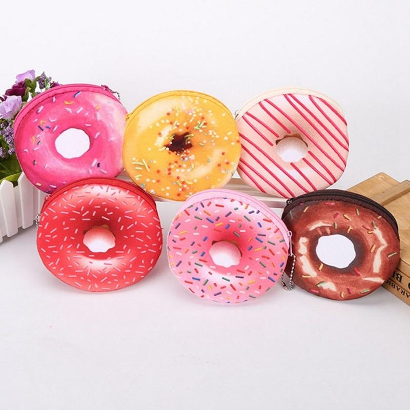 Coin Purse Series Wallet Card Bag Student Gift Creative Donut A Variety Colors Popular Cute Cartoon Girl Women