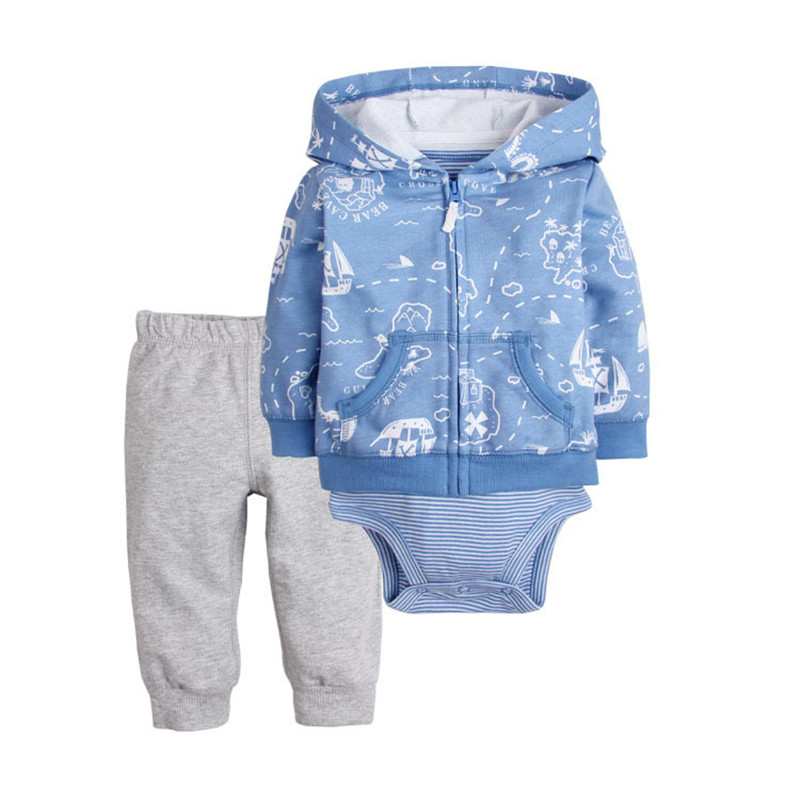 Newborn Baby Clothing Sets Spring Autumn Infant Hoodies + Romper + Pants 3pcs Bebe Boys Girls Long Sleeve Tops Toddler Clothes newborn baby rompers baby clothing 100% cotton infant jumpsuit ropa bebe long sleeve girl boys rompers costumes baby romper