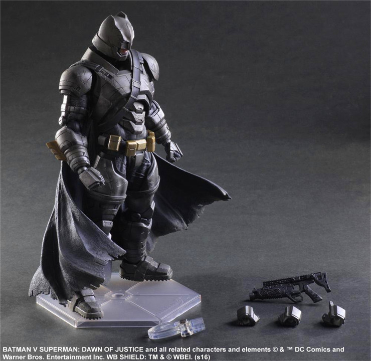 Play Arts KAI Batman v Superman Dawn of Justice NO.3 Armored Batman PVC Action Figure Collectible Model Toy 25cm KT3097 high yield page 10k compatible laser printer chip for epson workforce aculaser m300 reset toner cartridge chip