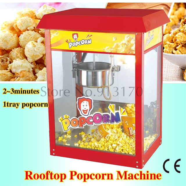 Rooftop Popcorn Maker Easy Operation Popcorn Machine Red Color 220V Commercial Corn Popper