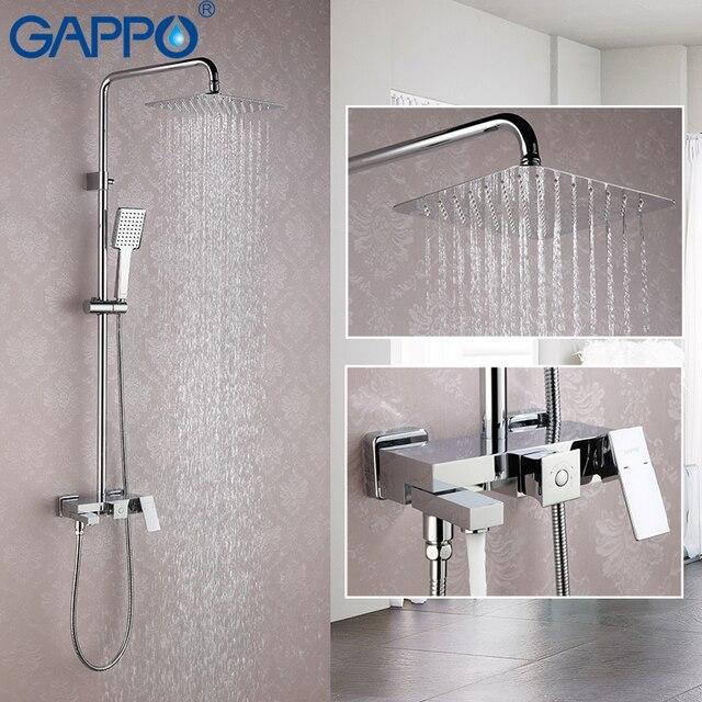GAPPO Shower Faucet Bathroom Faucet Mixer Rainfall Shower Set Brass Shower  Mixer Tap Wall Mounted Bath