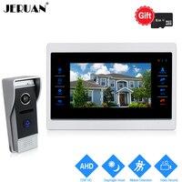 JERUAN 10 дюймов 720 P Видео Домофонные дверной звонок разблокировки внутренней Системы запись монитор + 1.0MP HD COMS Камера с обнаружение движения