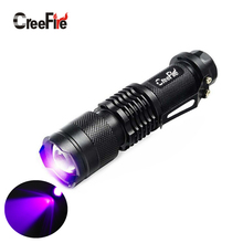 CreeFire Mini Aluminum Zoomable Portable UV Flashlight Violet Light LED Flashlight UV Torch Light