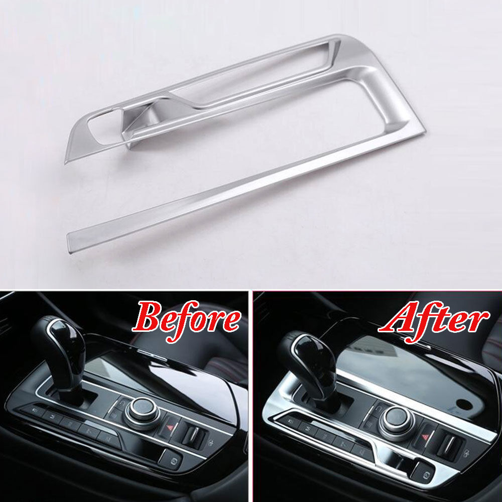 BBQ@FUKA ABS Gear Shift Box Panel Cover Trim Car Styling Car Gear Box Decoration Accessories Fit For Maserati Levante 16-17 car styling abs headlight switch button sequins dedicated interior chrome trim cover for subaru outback 2015 trim decoration