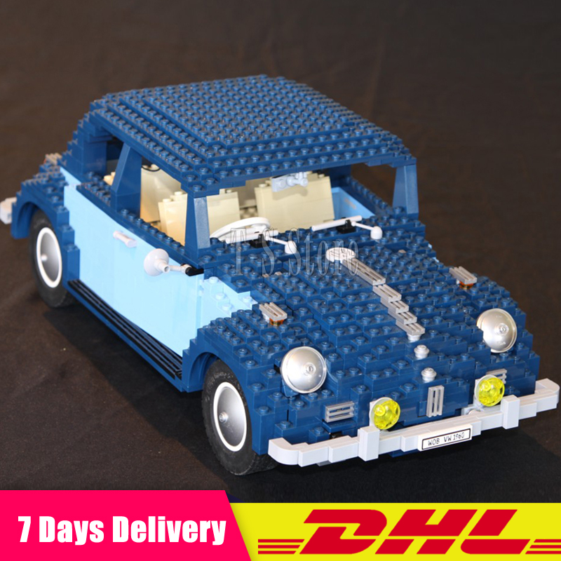 DHL IN Stock 2018 New LEPIN 21003 1193Pcs Volkswagen Beetle Car Model Building Kits Bricks Toys Compatible with 10252 volkswagen new beetle 2005 2009 кабриолет