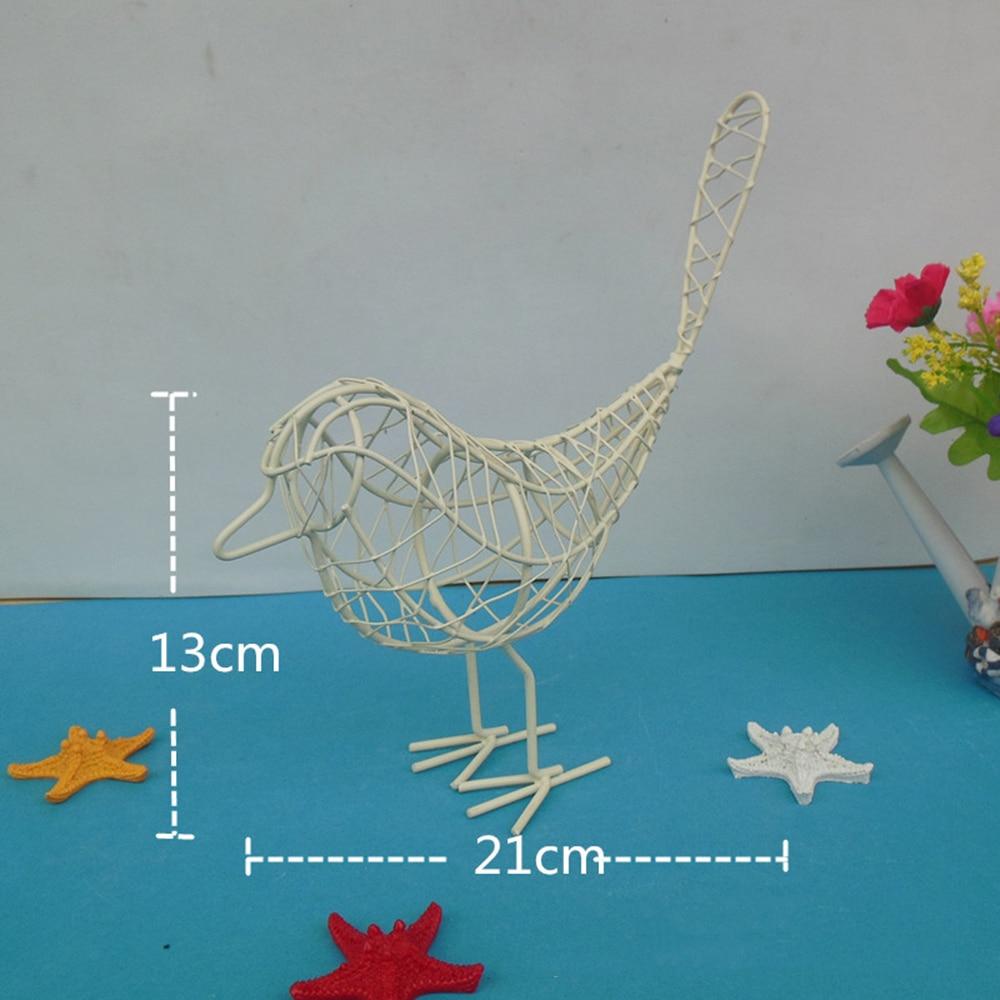 Simple Vintage Metal Wire Iron Bird Sculpture Craft Gift Room ...