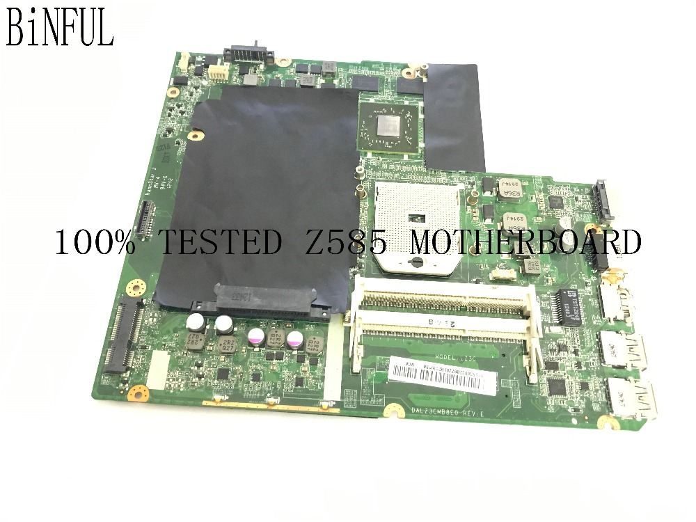 BiNFUL SUPER WORKING DALZ3CMB8E0 LAPTOP MOTHERBOARD FOR LENOVO Z585 NOTEBOOK WITH VIDEO CARD