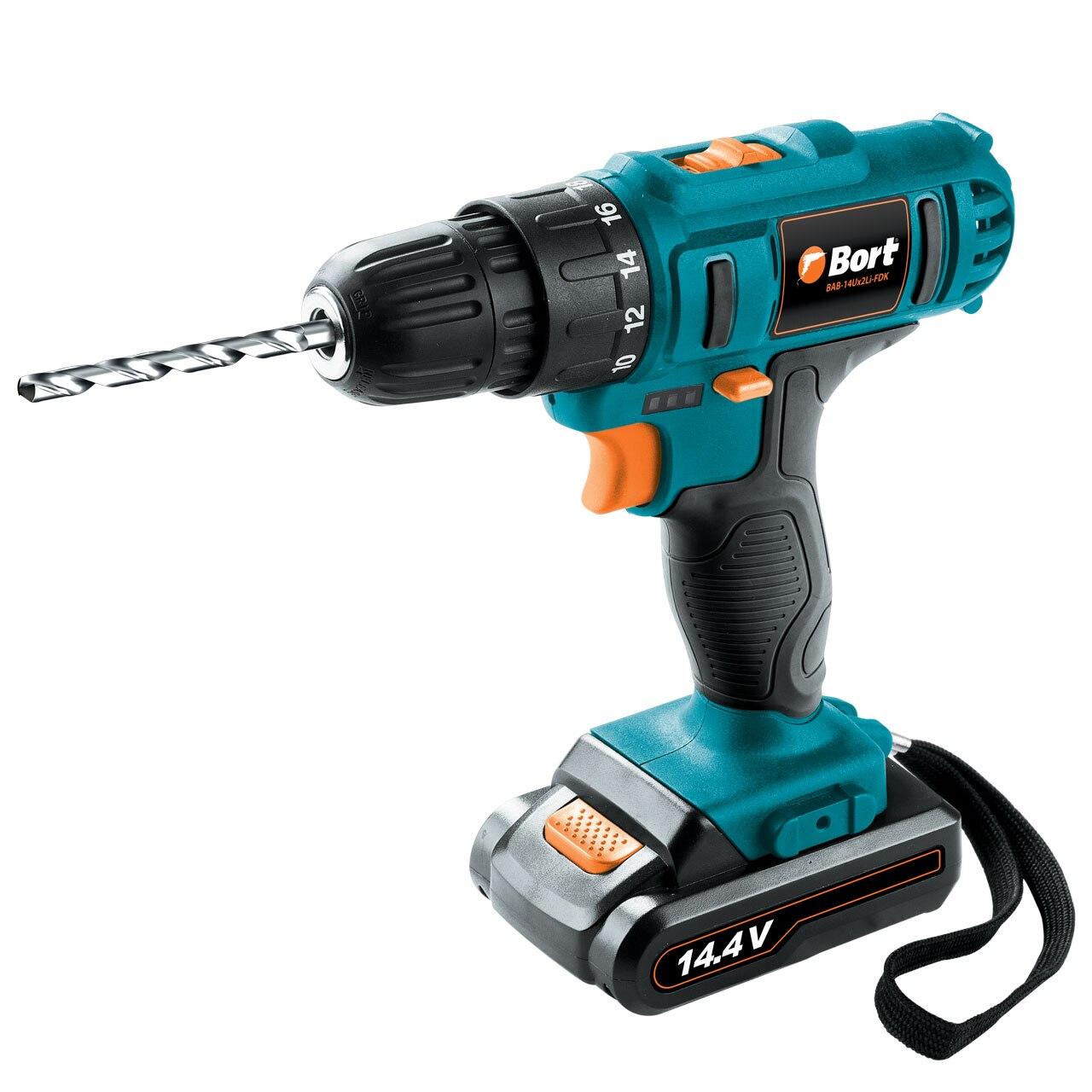 Drill battery Bort BAB-14Ux2Li-FDK bort bab 14ux2li fdk
