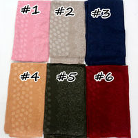 New design knurling glaid scarves and shawls dot with flowers pattern hijabs cotton viscose muffler fashion muslim wrap scarfs