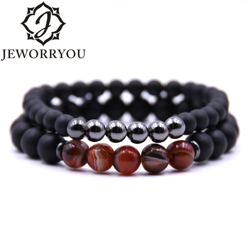 8mm Couple Bracelet Femme Homme Bracelet Set Bracelets For Women Men Natural Stone Bracelets Fine Jwelry For Women Best Friend