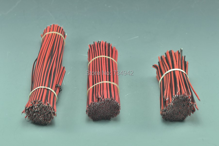 10pcs 18 AWG Two Conductor Power Wire Black and Red 2Pin Line For ...
