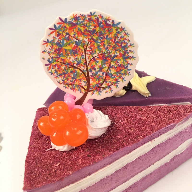 30pcs Lucky Colorful wish Tree cupcake toppers picks Children Birthday Party wedding Decoratio Beautiful Cake Flag supplies New