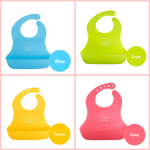 Baby Bibs Waterproof Silicone Feeding  Saliva Towel Newborn Cartoon Aprons Cute Kid Infant