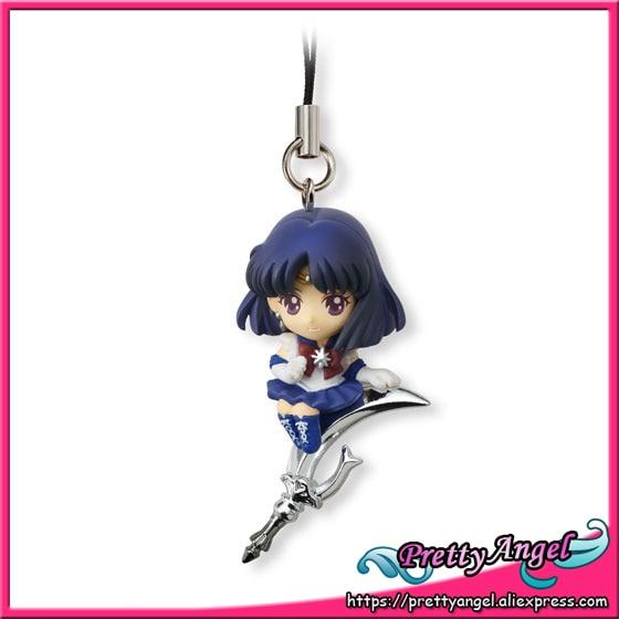 PrettyAngel - Genuine Bandai Sailor Moon 20th Anniversary Shokugan Twinkle Dolly 2 Keychain - Sailor Saturn ( No Candy ) original bandai shokugan sailor moon butterfly ribbon charm key chain sailor moon