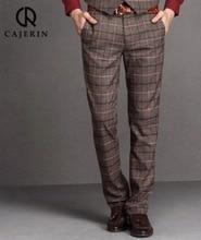 Pre Sale Men Formal Suit Pants Plaid Furry Warm Retro Spring Autumn Winter Super Slim Young Man Christmas Suits Long Pant