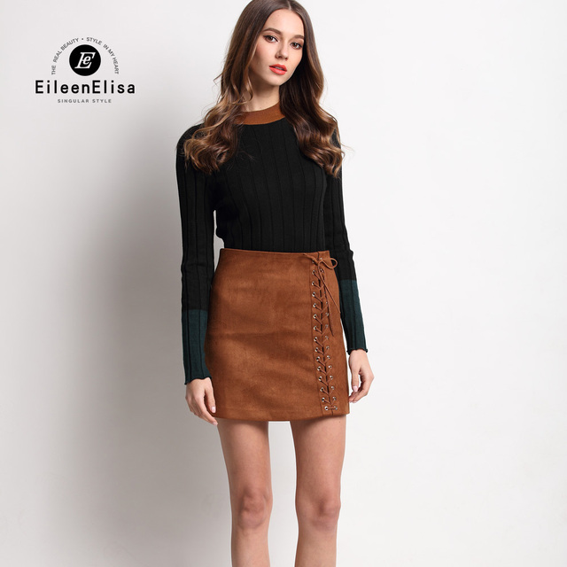 Runway Skirt Suits 2016 Women Sweater And Skirt Set Autumn Winter Luxury 2 Piece Sets