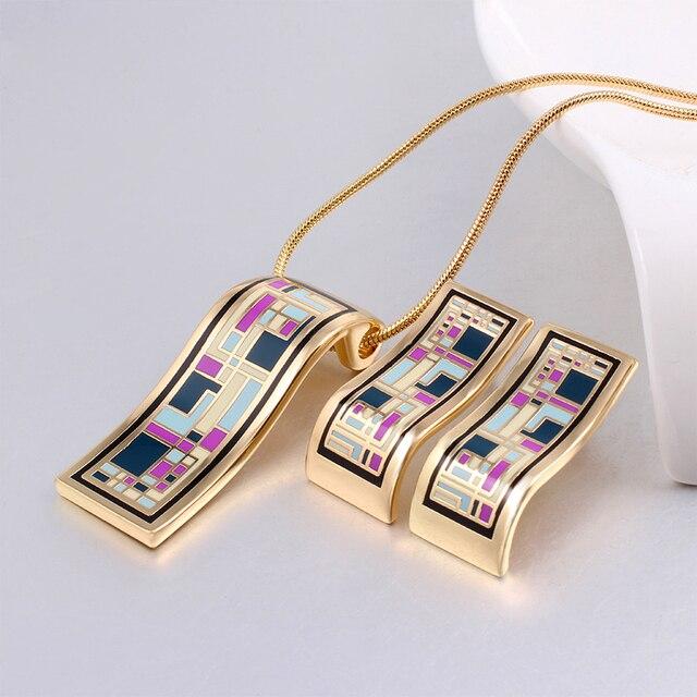 Новое поступление Дубай золотые Ювелирные наборы для женщин