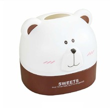 BF040 Lovely bear paper towel box tabletop napkin cartoon cute tissue 15.5*13.7*14cm
