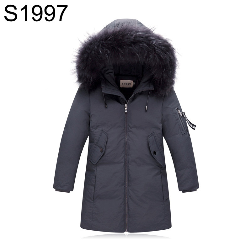 5-14T Boys Winter Down Jackets Children Fur Collar hooded Coat Teenagers Warm Thickening Winter Coat 5 Colors Big Kids Outerwear