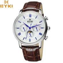 2016 Recién Llegado de Reloj Militar Analógico Relojes Eyki hombres de la Marca de Lujo de Negocios Reloj de Moda Pulsera de Cuarzo de Cuero