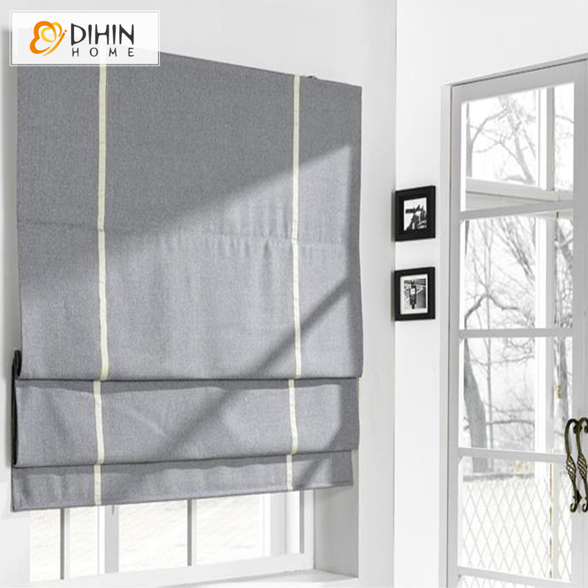 Included Curtains Modern Curtain 3 Color Cotton Linen Roman Curtain Blind High Quality Custom Made Window