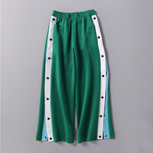 lady women clothes female clothing Side fork sports pants casual pants loose straight tube broadlegged pants