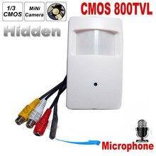 800TVL CCTV security Camera CMOS Color 960H Motion Detector PIR STYLE Indoor CCTV Mini PIR Style Surveillance Camera microphone