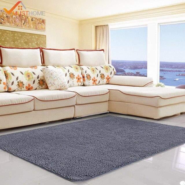 80x120cm 31 X47 Chenille Microfiber Living Room Rugs Large Non Slip Material