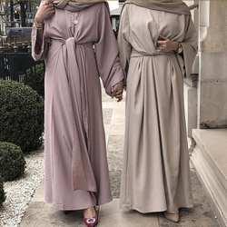 Fahion Muslimah поддельные двойка халат мусульманин турецкий Дубай мода мусульманский кафтан полная длина поклонения услуги abaya wq1276