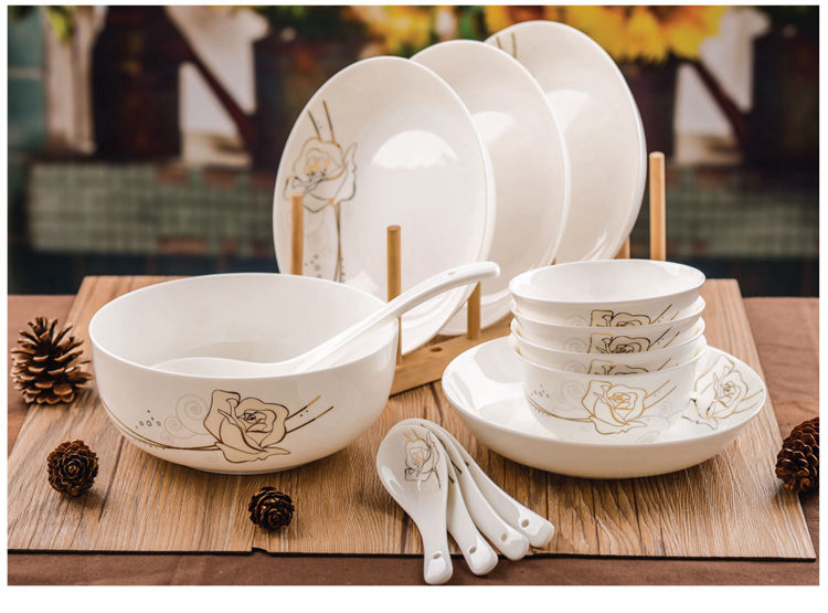 14 piece set real bone china dinnerware set floral painting porcelain dinner plates ceramic sushi dishes and plates sets-in Dinnerware Sets from Home ... : dinner plates sets cheap - pezcame.com